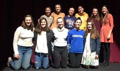Bottom row L to R: Samantha Galbraith, Lillian Benoit, Natalie Mullin, Hannah Kropp, Delia Knox. Top row L to R: Annalise Panici, Ella Poor, Abbey Lucey,  Claire Oliver, Kaitlyn Guay, Meaghan McBreairty