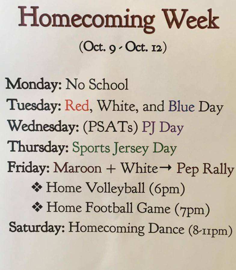 Homecoming+Week+Schedule+of+Events