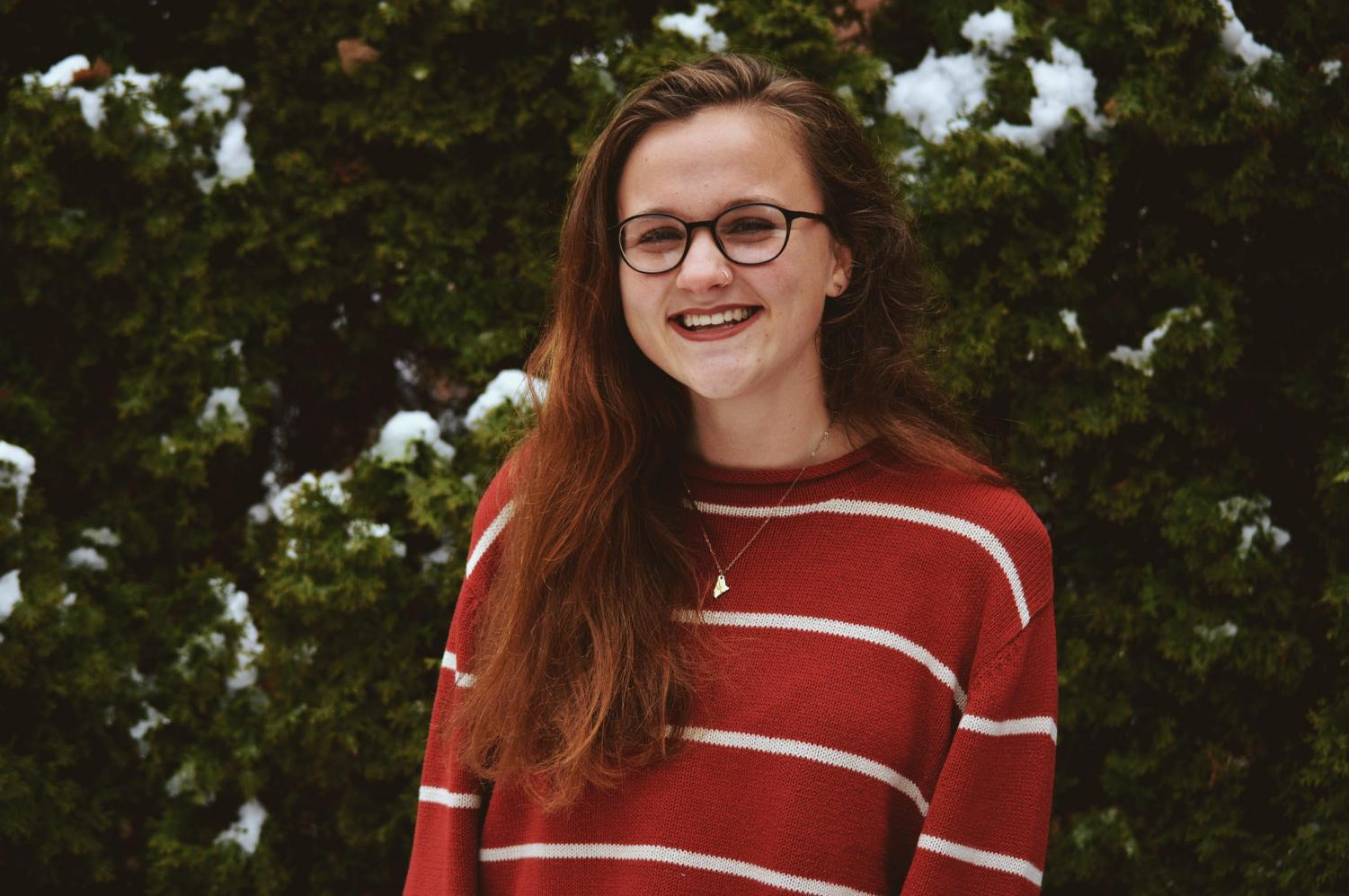 Siana Emery, the editor of her college newspaper.